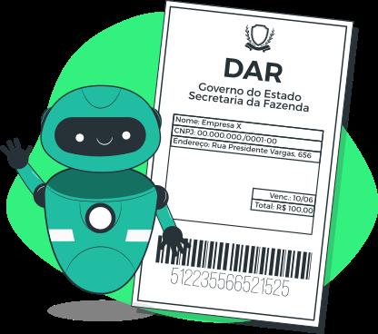 Emissão automática de DAR-AP, DAR-MT, DARE-SP, DAE-MG, DARJ e GR-PR